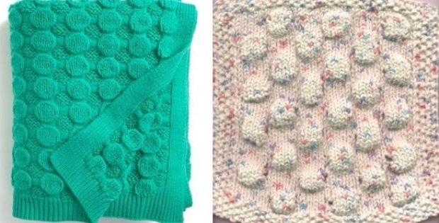 Bubble Wrap Knitted Stitch Free Knitting Pattern