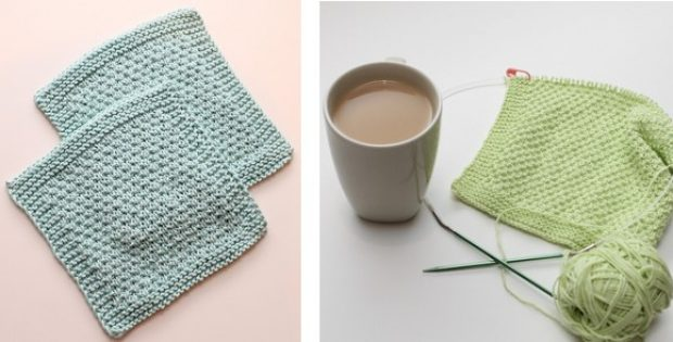 Sploshy Knitted Textured Washcloth Free Knitting Pattern
