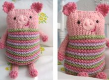 Super cute knook knitted piggy | The Knitting Space