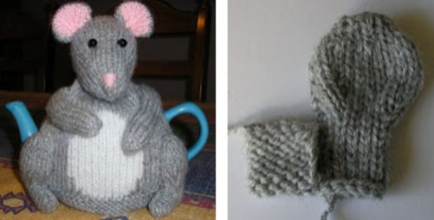 Little Mouse Knitted Tea Cozy Free Knitting Pattern