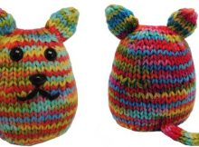 Kitty beans knitted soft toy | The Knitting Space