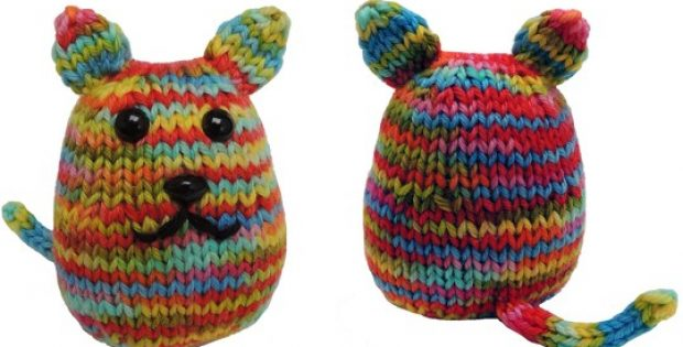 Kitty Beans Knitted Soft Toy Free Knitting Pattern