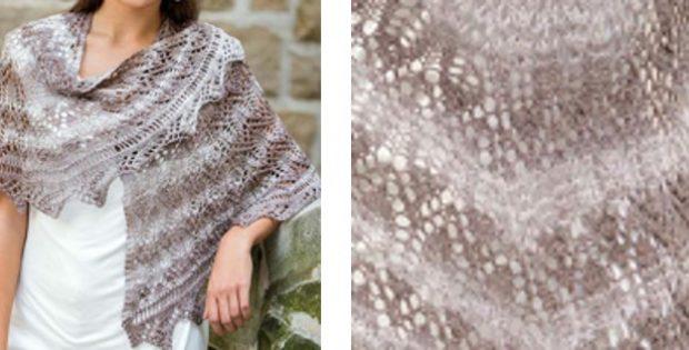 Spiral-Shaped Knitted Lace Shawl [FREE Knitting Pattern]