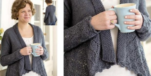 Elegant Knitted Ladies Cardigan Free Knitting Pattern