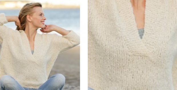 Feel Free Knitted V Neck Sweater Free Knitting Pattern
