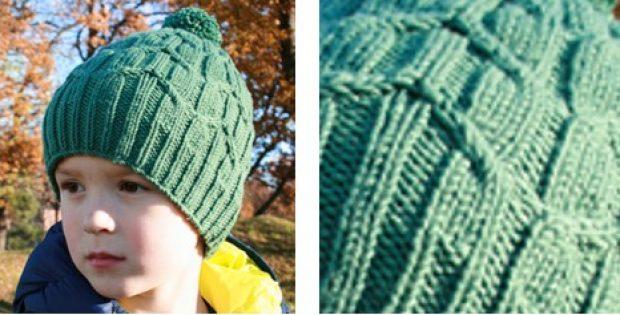 Green Bird Knitted Childrens Hat Free Knitting Pattern