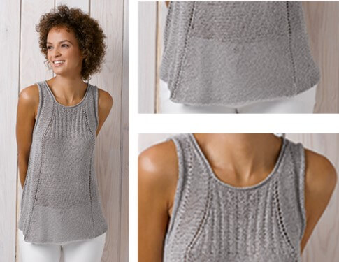 Knitting Patterns Summer Tops : Knit Katia Summer Top [FREE Pattern]