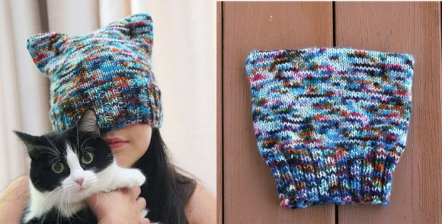 Easy Kitkat Knitted Beanie Free Knitting Pattern
