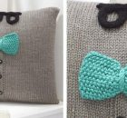 Lovable Knitted Hipster Pillow | The Knitting Space