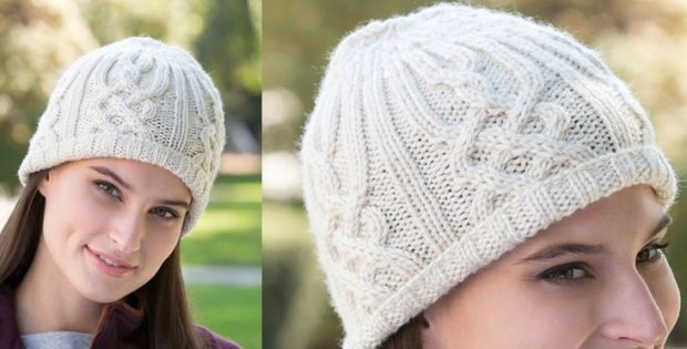 Lattice Look Knitted Beanie  FREE Knitting Pattern  30c1d35f25d