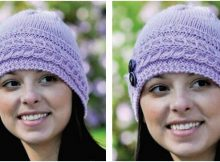 Lauren knitted cabled hat | the knitting space
