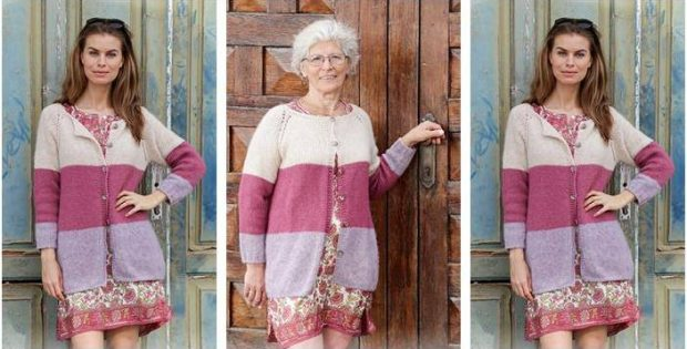 Lavender Rose knitted jacket | the knitting space