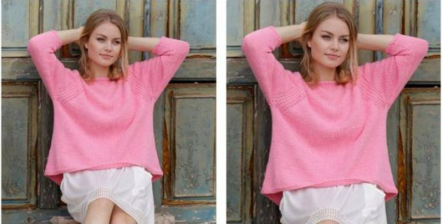 Lazy Summer knitted raglan sweater | the knitting space