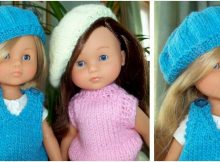 Les Cheries doll knitted beret | the knitting space