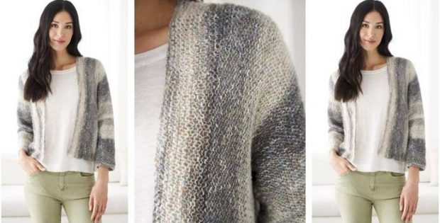 Light \'N Easy Knitted Cardigan [FREE Knitting Pattern]