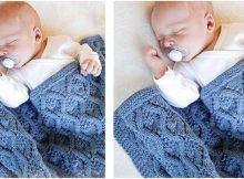 Little Dreams knitted baby blanket | the knitting space