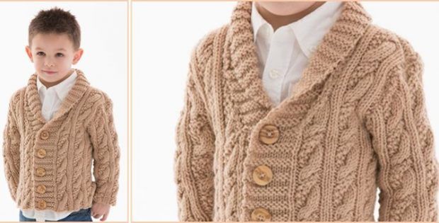 2375706e3c Little Man Knitted Cable Cardigan  FREE Knitting Pattern