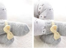 Little Miss Ribbons knitted socks | the knitting space