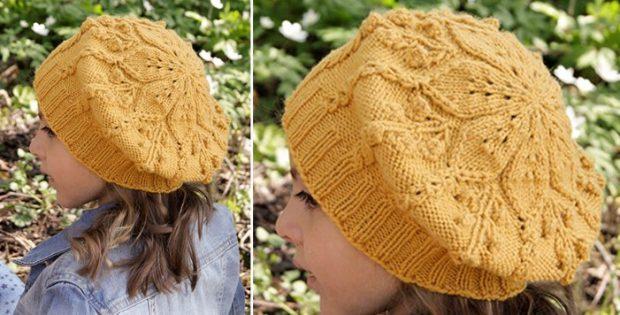 Little Sunshine Knitted Beret Free Knitting Pattern
