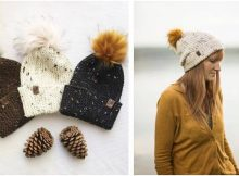 Loghan knitted pompom hat | the knitting space