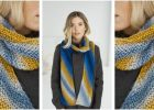 Los Lunas knitted stripy scarf   the knitting space