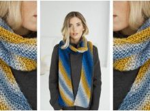 Los Lunas knitted stripy scarf | the knitting space