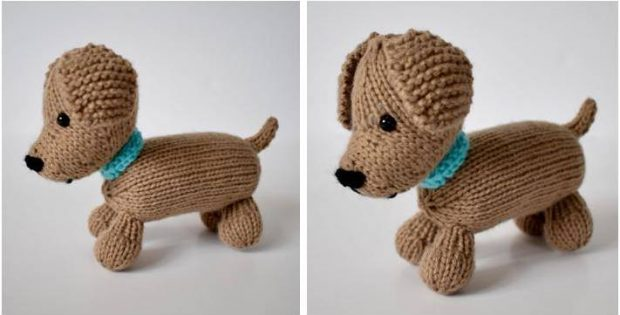 Loyal Puppy Knitted Stuffed Toy Free Knitting Pattern