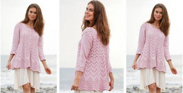 Lovely Lydia Knitted Lace Jacket [FREE Knitting Pattern]