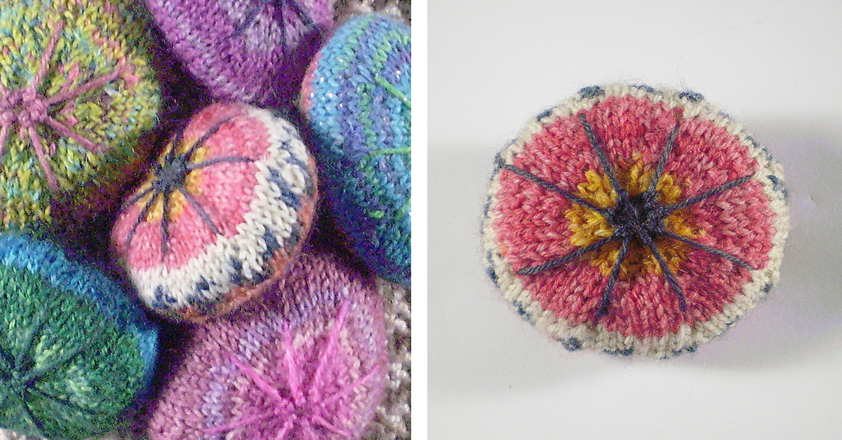 Mandala Stone Knit Paperweight Free Knitting Pattern