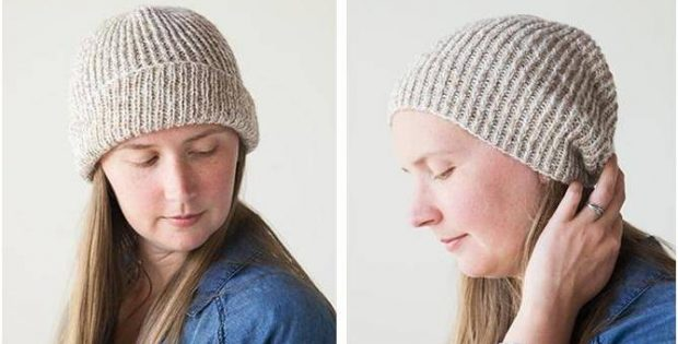 28ff64880 Marled Knitted Ribbed Hat [FREE Knitting Pattern]