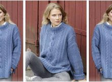 Midnight Cables knitted sweater | the knitting space