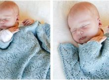 Milk Dreams knitted baby blanket | the knitting space