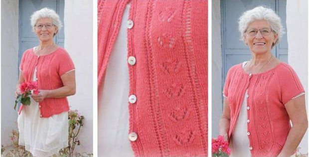 Miss Flora knitted lace jacket | the knitting space