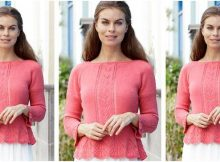 lovely Miss Flora knitted lace sweater | the knitting space