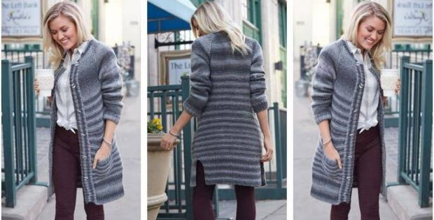 Morning Coffee knitted coat | the knitting space