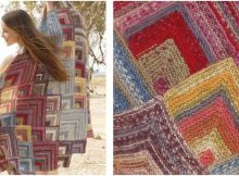 Moroccan colors knitted blanket   the knitting space