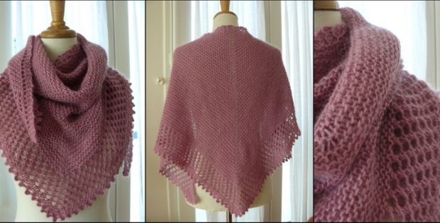 Mousseux Knitted Lace Shawl Free Knitting Pattern