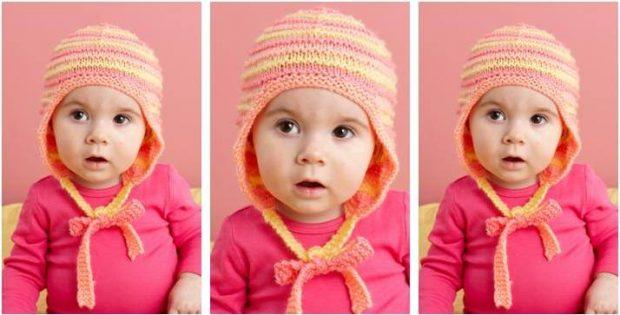 df29256b44b Multi Stripe Knitted Baby Hat  FREE Knitting Pattern