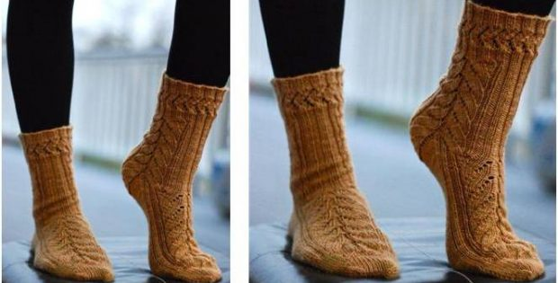 Mystery knitted lace socks | the knitting space