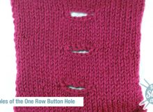 knitted one row button hole | the knitting space