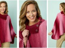 Napa rib collar knitted poncho | the knitting space