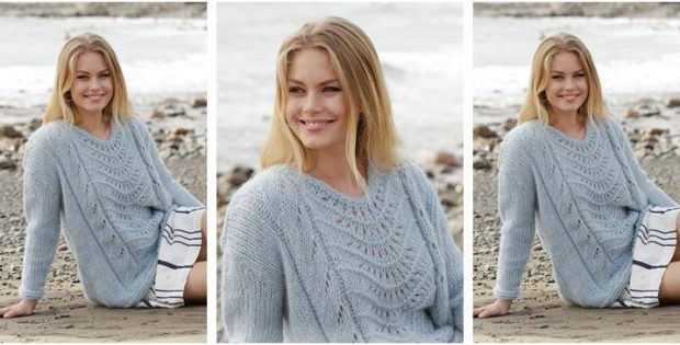 Nimbus knitted lace sweater | the knitting space