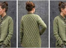 Ninni knitted lace cardigan | the knitting space