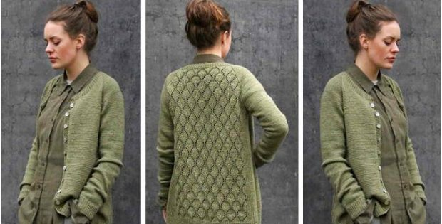 Ninni Knitted Lace Cardigan Free Knitting Pattern