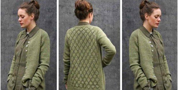 Ninni Knitted Lace Cardigan [FREE Knitting Pattern]