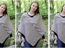 Noelia knitted cable poncho   the knitting space