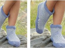Nora's mood knitted slippers | the knitting space