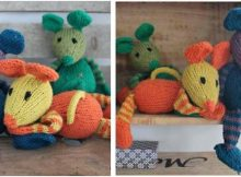 Nussemus knitted toy mice | the knitting space