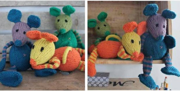 Nussemus Knitted Toy Mice Free Knitting Pattern