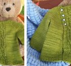 Olive knitted kiddie cardigan | the knitting space